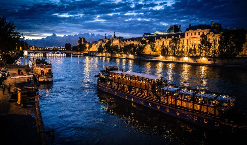 Sunset Boat Cruise on Seine River