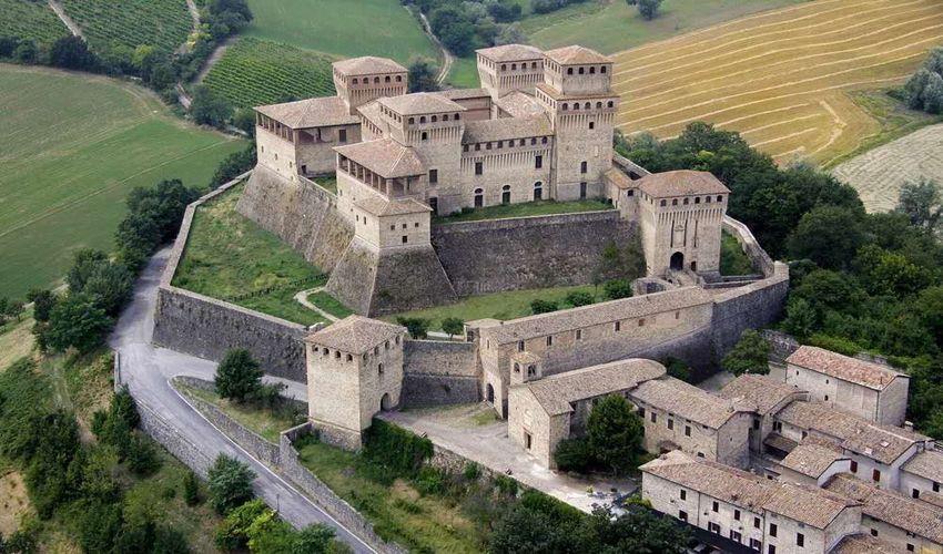 Torrechiara Castle and Langhirano